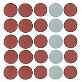 25pcs Mix Grit Sander Disc 5 inch 800/1000/1500/2000/3000 Grit Sanding Polishing Paper Pads Abrasive Sandpaper Set
