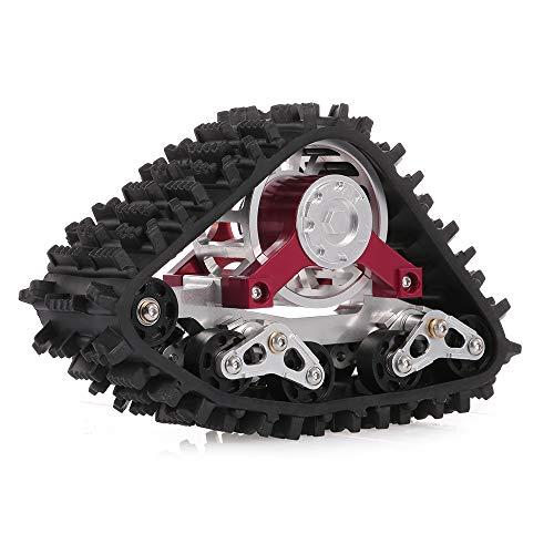 Goolsky Snow Track Wheel Snow Tire Sandmobile Conversion Adapter for 1/10 SCX10 90018 Climbing RC Car