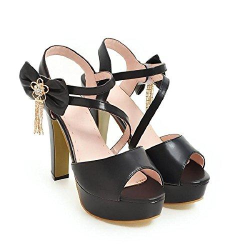 Heel AGECC High Fish Mouth And Super Shoes black Sandals xwqvZU