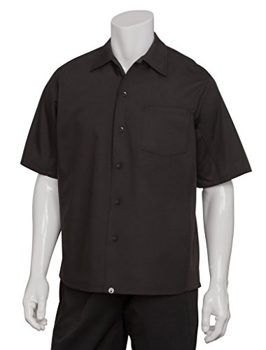 Chef Works Mens Cool Vent Cook Shirt, Black, X-Large