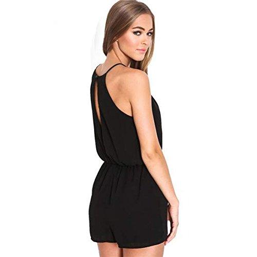 innovative design eef3a c2a87 Sexy Damen Overall Sommer Jumpsuit kurz Overall Schwarz ...