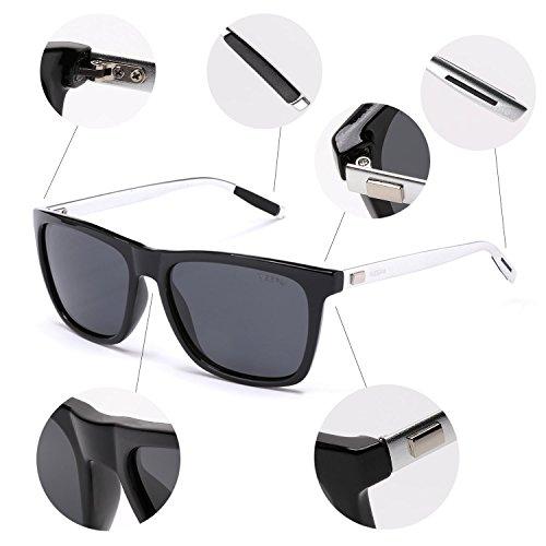 56a51a276a8 ... NIEEPA Square Polarized Sunglasses Aluminum Magnesium Temple Retro  Driving Sun Glasses Grey Lens Black Frame ...
