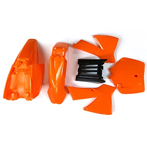 TC-Motor Orange Plastic Body Fender Fairing Kit Kits For KTM50 Mini Senior Junior Adventure SX SR JR KTM 50cc MT (Mini Kit Ktm)