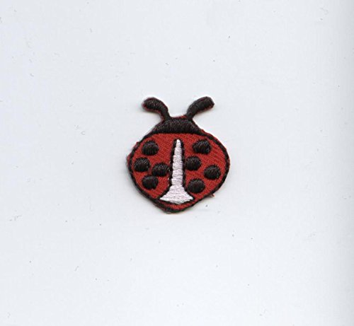 Small Red Ladybug Iron on Embroidered Applique Patch Ladybug Embroidered Iron