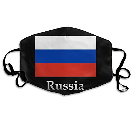 (SyjTZmopre Russia Flag and Name Frederick Holiday Mouth Mask Unisex Printed Fashion Face Anti-dust)