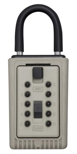 Kidde AccessPoint 001404 KeySafe 3-Key Portable Push Button Key Safe Box, Clay by Kidde