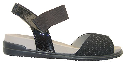Sandali In Pelle Ara Ara Nera 01