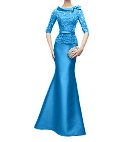 Abendkleider La Dunkel Brautmutterkleider Meerjungfrau Spitze Damenrock Braut Langes Figurbetont Fuchsia Ballkleider mia Blau rq8HYfr