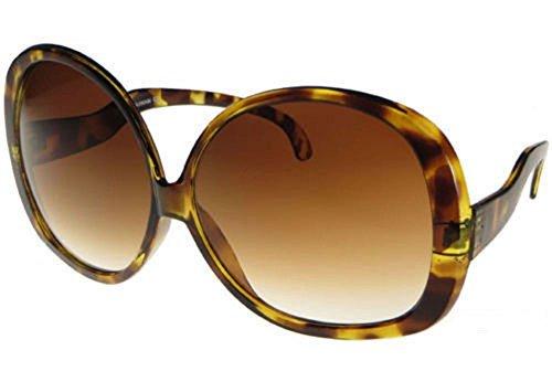 Oversized Brown Gradient Huge Sunglasses Vintage Style Women Glasses (Sunglasses Ladies Style)