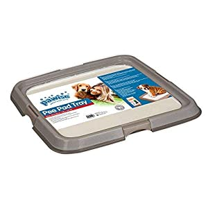 """PAWISE Large Dog Training Pad Holder, Best Portable Puppy Trainer – Indoor Dog Potty – Puppy Pad Floor Tray, 23.6""""X23.6"""""""