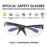 VITENZI Safety Bifocal Glasses Wrap Around Sports