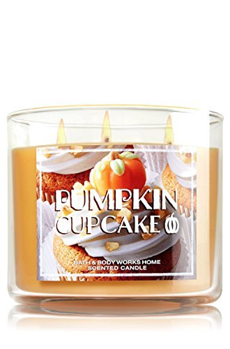 Bath & Body Works 14.5 Ounce 3-wick Scented Candle Pumpkin Cupcake Limited Edition 2015 Fall -