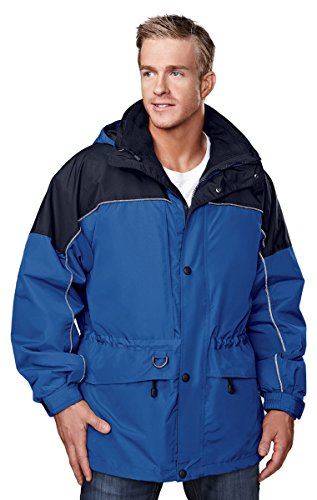 Tri-Mountain 3-in-1 System Coat w/Optional Zip-Out Hood. 9100 (Colorado Scrub)