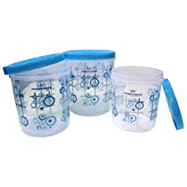 Princeware Twister Package Container, Set of 3, Blue