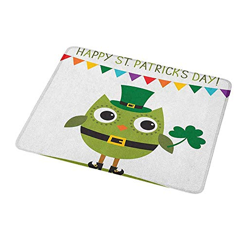 Mouse Pad Custom St. Patricks Day,Owl with Leprechaun