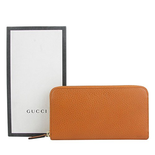 Gucci Zip Around Dark Orange Leather Long/Continental Wallet 363423 7614 ()