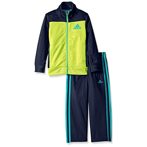adidas Baby Boys' Qualify Contrast Tricot Set (18 Months, Lime) -