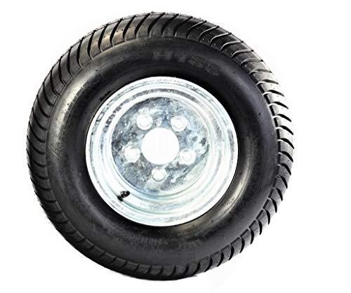 205/65-10 (20.5 X 8.00-10) Bias Ply Pontoon Trailer Tire w/ 10 Galvanized Rim by Tredit ()