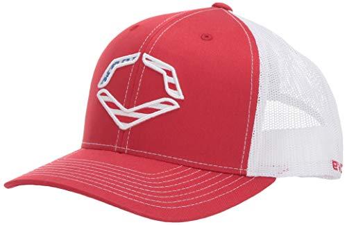 EvoShield USA Snapback Trucker, Red/White - OSFM