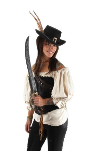 elope Disney Angelica Hat, Black, One (Angelica Pirate Hat)