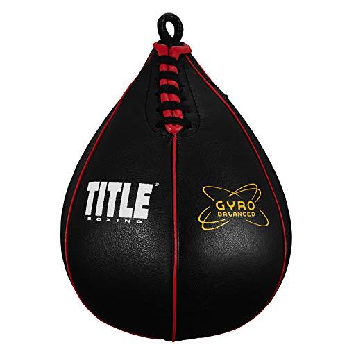 TÍTULO Bolsas de velocidad equilibrada Gyro de boxeo, negro, pequeño