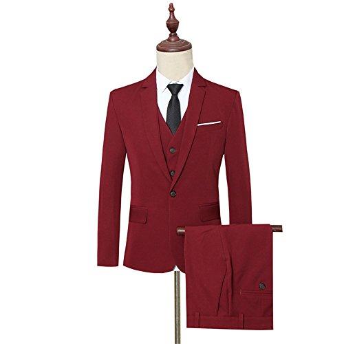 Rouge 3 Homme Costume Pièces Vague Star Tz96 qxpwYY