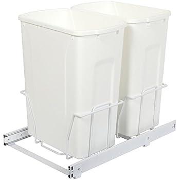 knape u0026 vogt psw15235wh incabinet pull out bottom mount trash