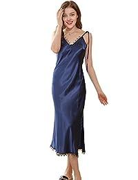 CUKKE womens Sleepwear Chemise Nightgown Lounge Dress