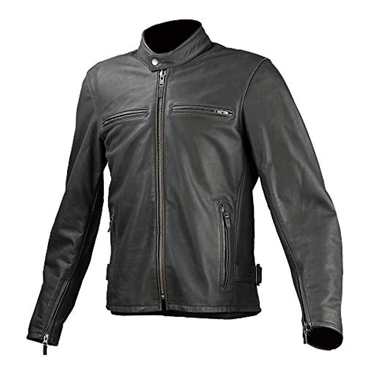 [해외] 코미네 KOMINE 오토바이 LJ-534 싱글 라이더스 레져 가죽 소가죽 재킷 아우터 BLACK/L 02-534