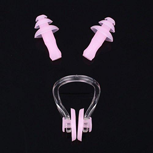Hongfei pince-nez et bouchons d'oreille enfants adultes Silicone souple Imperméable ajustement ergonomique confortable mis en boîte