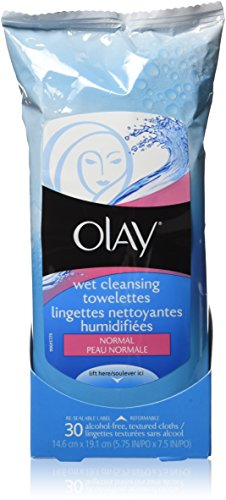 Olay Normal Wet Cleansing Cloths, 30-Count (Pack of 2)
