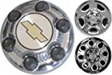 16 Inch OEM Chevy 6 Lug Chromed Center Cap Hubcap Wheel Cover, 1999-2011 # 9598133 9598135 9598137