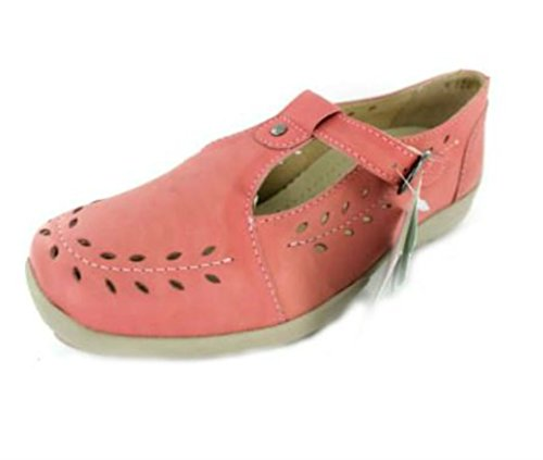 Db Shoes Ladies Extra Wide Linda 4E Rose Pink