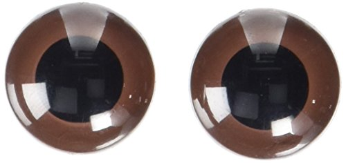 (Darice 51124-07 Animal Eyes with Plastic Washer Brown 24Mm 2Pc,)