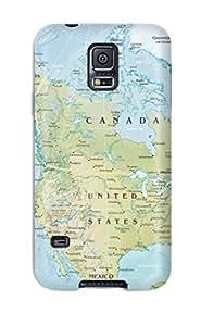 XKbpWhk7217Uuskh PhilipWeslewRobinson Maps United States Of America Durable Galaxy S5 Tpu Flexible Soft Case