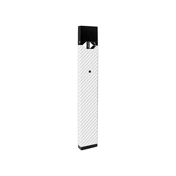MightySkins Skin Compatible with Juul - White Carbon Fiber | Protective,  Durable, and Unique Vinyl Decal wrap Cover | Easy to Apply, Remove, and