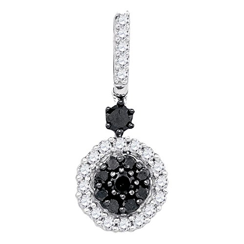 Black Diamond Cluster Pendant - 3