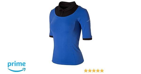 Naffta Tennis&Paddle Camiseta de Manga Larga, Mujer, Azul Francia/Negro, M: Amazon.es: Deportes y aire libre