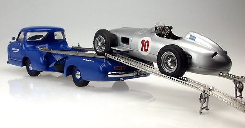CMC 1954 / 1955 Mercedes Benz Racing Car Transporter in 1:18 Scale