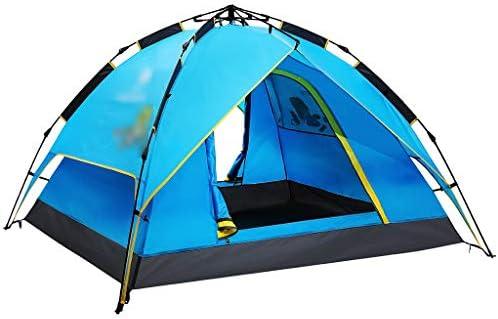 WJP Tiendas de campaña Tiendas de campaña para Camping Coleman Tienda de Viaje Tienda de campaña de Doble Capa 3-4 Personas Tienda de campaña a Prueba de Lluvia automática: Amazon.es: Deportes y
