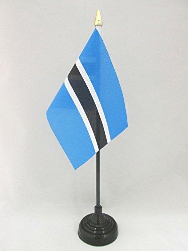- AZ FLAG Botswana Table Flag 4'' x 6'' - Botswanan Desk Flag 15 x 10 cm - Golden Spear top
