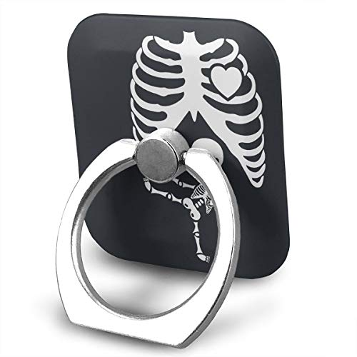 Halloween Pregnant Skeleton Phone Ring Holder, 360 Degree Rotation Thin Universal Phone Ring Holder Kickstand Grip/Stand/Kickstand/Car Mount