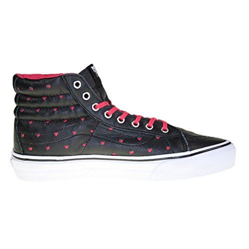 hi Noir Rouge Slim Sk8 Hearts Leather Vans Perf p8a1qTwx