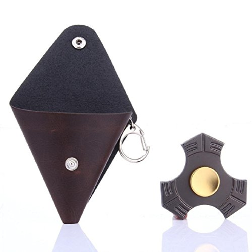 For Fidget Hand Spinner, Ouneed ® Para inquieto mano Spinner triángulo dedo juguete Focus ADHD autismo Bolsa regalo (Negro) marrón