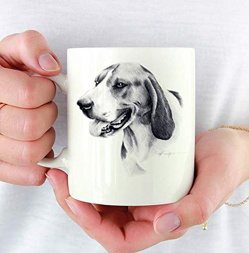 Treeing Walker Coonhound Custom 11oz Mug With Dog Art Featuring Watercolor Painting by Artist DJ Rogers