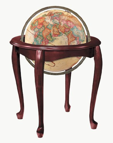 Replogle Globes Queen Anne Globe, Antique Ocean, 16-Inch Diameter by Replogle