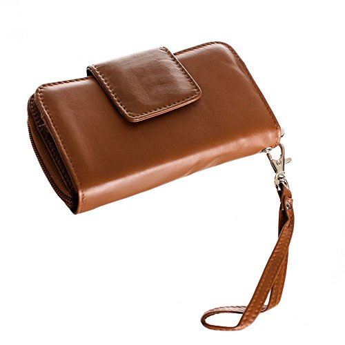 Limited Edition Leather Wristlet (Wildwood Bark)