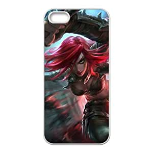 iPhone 4 4s Phone Case Cover White League of Legends Katarina EUA15982789 Durable DIY Phone Case