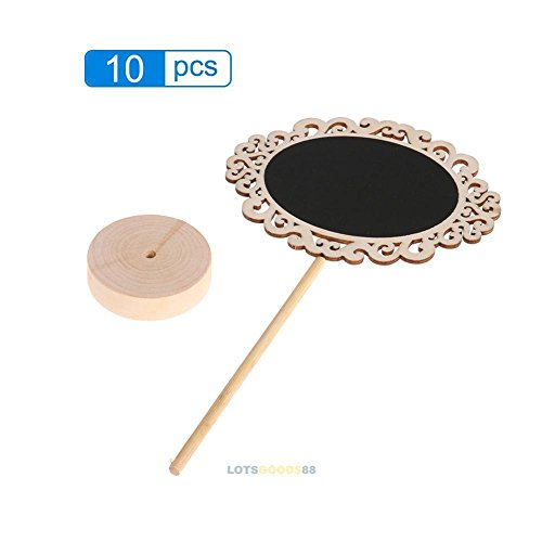 10pcs Set Mini Oval Chalkboards with Support for Party Table Place Card Signs New Memo Cube