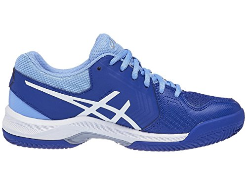 Gel Tennis White 5 Shoes Women's Blue ASICS Dedicate Monaco gwzqx7WAd